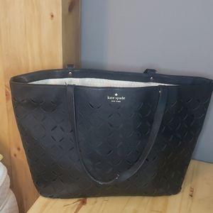 💜Large Kate Spade Laser Cut Tote Bag